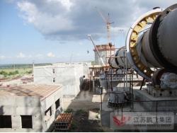 俄罗斯伏尔加2500吨水泥生产线回转窑