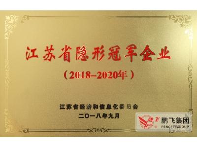 (2018年9月)江苏省隐形冠军