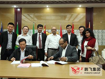董事长王家安与孟加拉客户签订订单合同